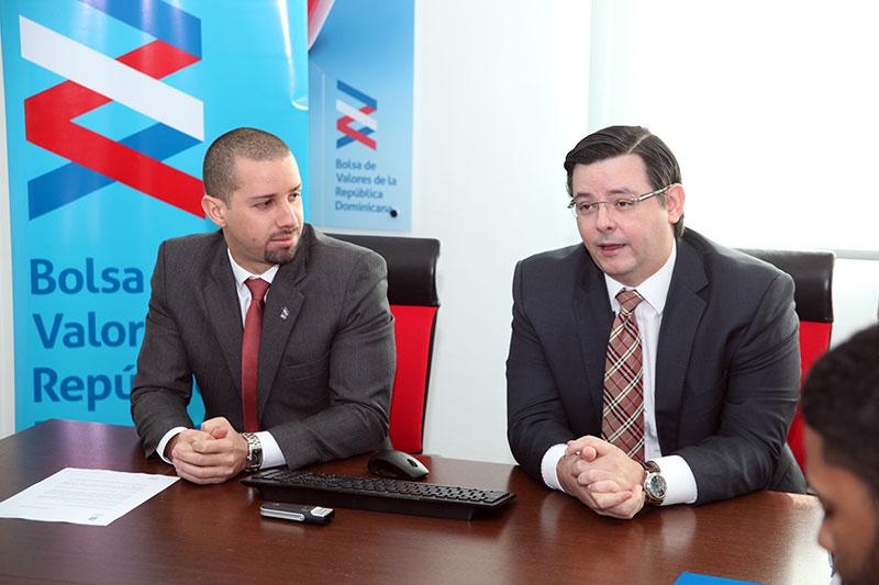 Alerso Pimentel y Felipe Amador, gerente de proyectos y gerente general de la bolsa, respectivamente. | BVRD