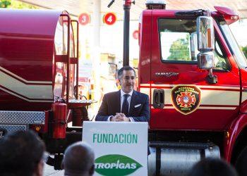 El presidente de Fundación Tropigas, Carlos José Martí, participa activamente en cada proyecto.
