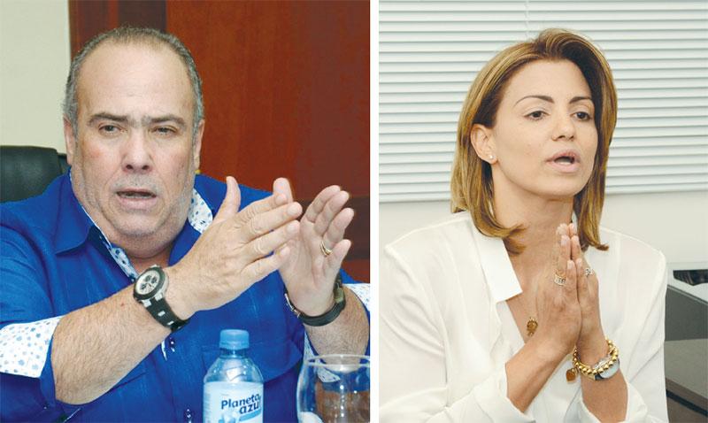 Charles Mariotti, presidente de la Comisión de I. y C. del Senado y Michelle Cohen, presidenta del Consejo de ProCompetencia.