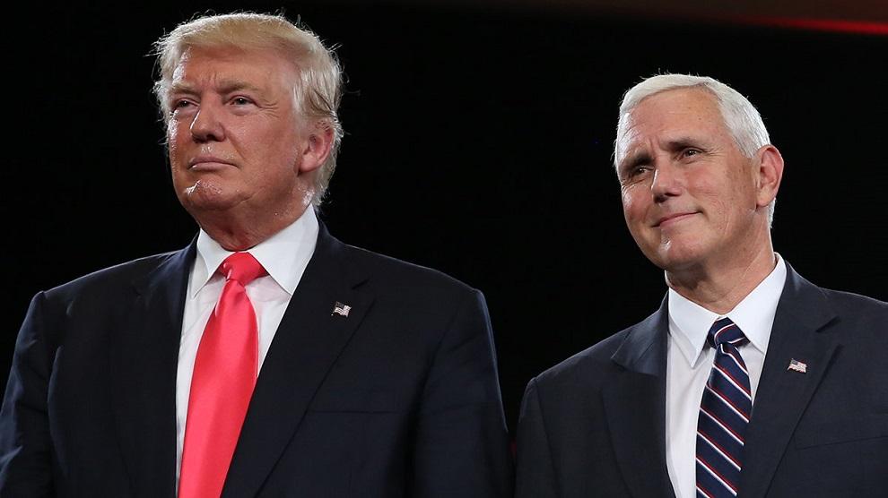 donald trump y michael pence