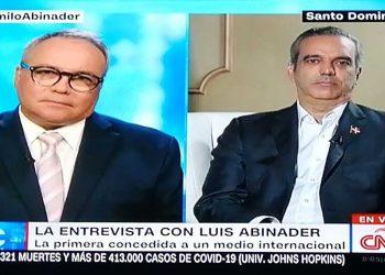 El presidente Abinader habló durante una entrevista con la cadena CNN.